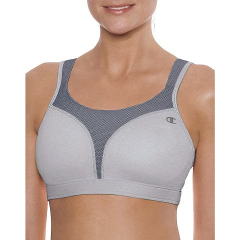 Spot Women's Comfort Full-Support Oxford Heathered/Medium Grey Sports Bra