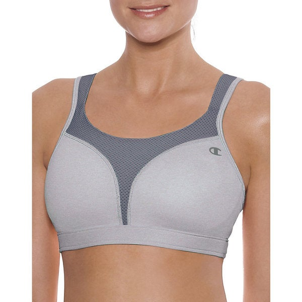 Spot Women's Comfort Full-Support Oxford Heathered/Medium Grey Sports Bra