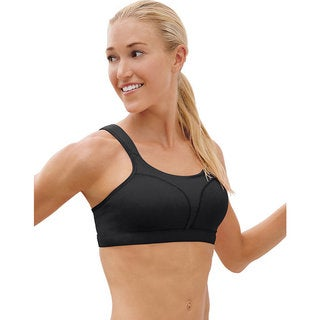 Spot Women's Comfort Full-Support Black Sports Bra