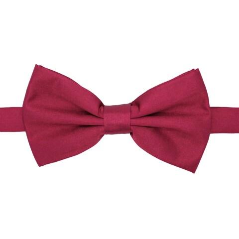 Ferrecci Men's Premium Adjustable Polyester Satin Bow Tie