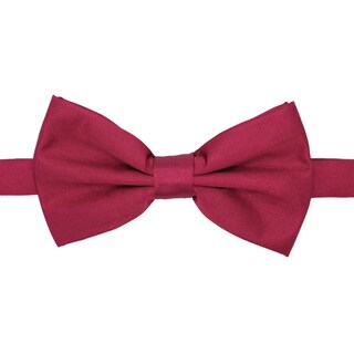 Ferrecci Men's Premium Adjustable Polyester Satin Bow Tie