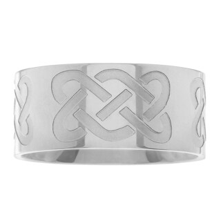 Journee Collection Stainless Steel Celtic Band Ring
