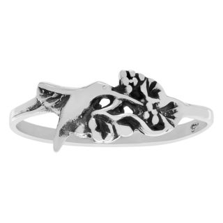 Journee Collection Sterling Silver Hummingbird Ring