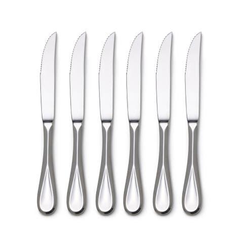 Mikasa Bravo Stainless Steel Steak Knives (Set of 6)