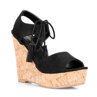 Hotsoles Pony Tasseled Women's Wedge Sandals