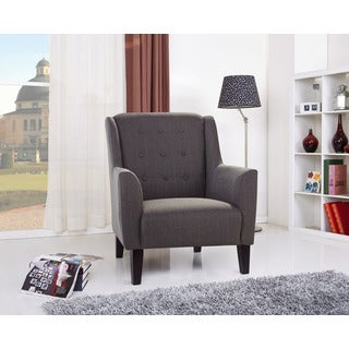 Providence Gray Button Tufted Arm Chair