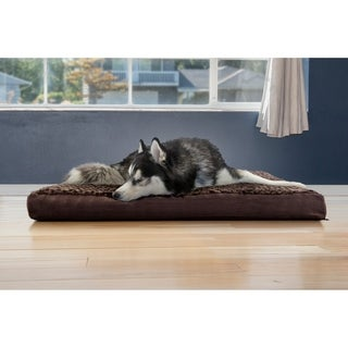 FurHaven Dog Ultra Plush Deluxe Cooling Gel Memory Orthopedic Dog Bed