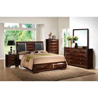 Windsor Merlot 4-piece Storage Bedroom Set