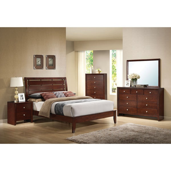 Ilana Brown Cherry 4-piece Bedroom Set