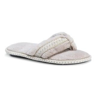 Muk Luks Women's Darlene Micro Chenille Thong Slippers