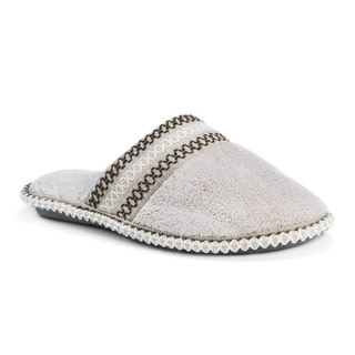 Muk Luks Women's Cathy Micro Chenille Closed Toe Slippers