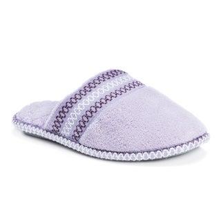 Muk Luks Women's Cathy Micro Chenille Closed-toe Slippers