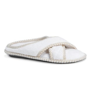 Muk Luks Women's Ada Micro Chenille Crisscross Slippers