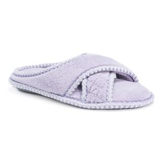 Muk Luks Women's Ada Micro Chenille Criss-cross Slippers