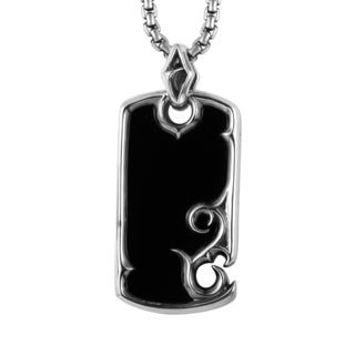 Stephen Webster Sterling Silver Dog Tag Pendant with 20-inch Chain