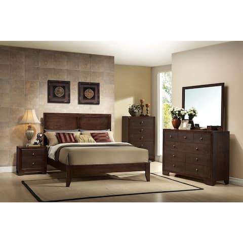 Madison Espresso 4-piece Bedroom Set