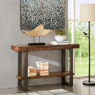 Madison Park Ellis Chestnut Console Table
