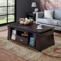 Furniture of America Menli Contemporary Espresso Magazine Storage Coffee Table