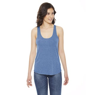Triblend Women's Blue Cotton-blend Racerback Athletic Tank