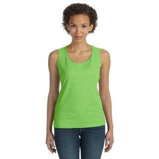 Combed Women's Key Lime Ring-spun Jersey Tank