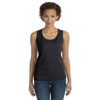 Black Combed Women's Ringspun Jersey Tank Top