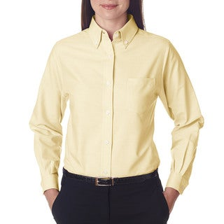 Women's Classic Wrinkle-Free Long-Sleeve Butter Oxford Shirt