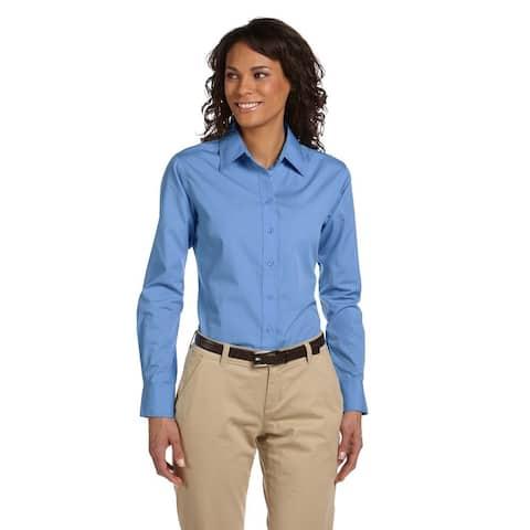 Women's Essential Poplin Light College Blue Shirt