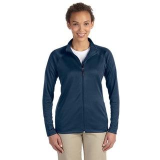 Stretch Women's Tech-Shell Compass Full-Zip Navy Jacket