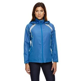 Sirius Women's Light Nautical Blue Lightweight Jacket With Embossed Print