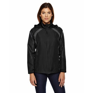 Sirius Women's Black 703 Lightweight Jacket With Embossed Print