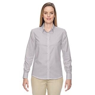 Paramount Women's Mulbry Purple 449 Wrinkle-resistant Cotton Blend Twill Checkered Dress Shirt