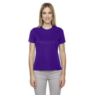 Pace Women's Performance Pique Crew Neck Campus Prple 427 Shirt