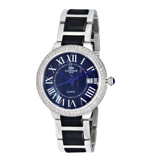Oniss ON3331 Women's Stainless Steel/Cubic Zirconia Analog Watch