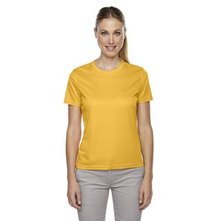 Pace Women's Performance Pique Crew Neck Campus Gold 444 Shirt https://ak1.ostkcdn.com/images/products/12271806/P19111025.jpg?impolicy=medium