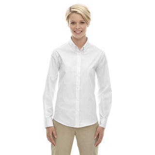 Operate 701 White Long-sleeve Women's Twill Dress Shirt