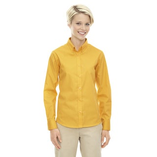 Operate Women's Campus Gold 444 Twill Long-sleeve Dress Shirt