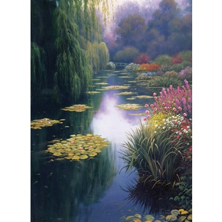 View From Monet's Bridge Counted Cross Stitch Kit