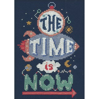 Time Is Now Mini Counted Cross Stitch Kit
