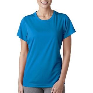 Cool and Dry Women's Sport Performance Interlock Sapphire Shirt