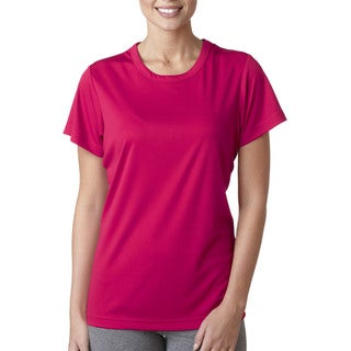 Cool and Dry Women's Sport Performance Interlock Heliconia Shirt