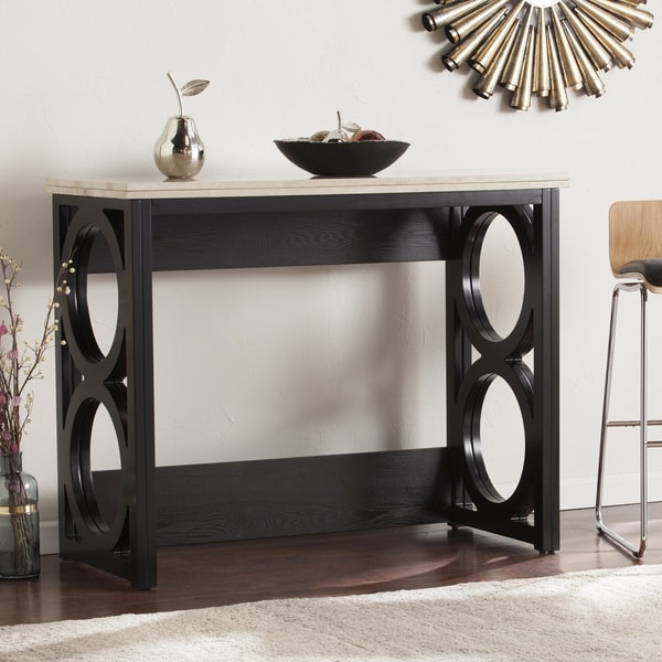 Counter Height Sofa Table : Harper Blvd Renate Faux Marble Counter Height Console/ Dining Table ...