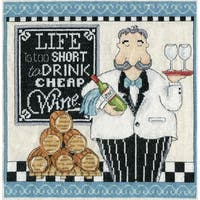 Cheap Wine Counted Cross Stitch Kit