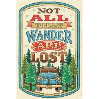 Not All That Wander Are Lost Counted Cross Stitch Kit