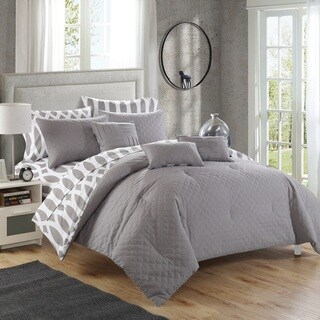 Chic Home Stein Grey Diamond 10-Piece Bed In a Bag