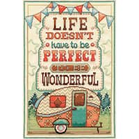 Life Is Wonderful Counted Cross Stitch Kit