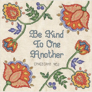 Be Kind Counted Cross Stitch Kit