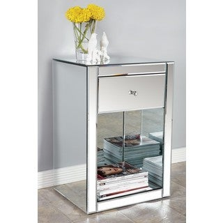Ashtyn Mirrored 1-Drawer Side Table