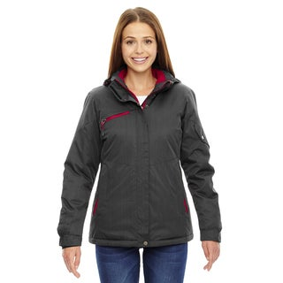 Rivet Women's Textured Twill Insulated Carbon/Classic Red 486 Jacket