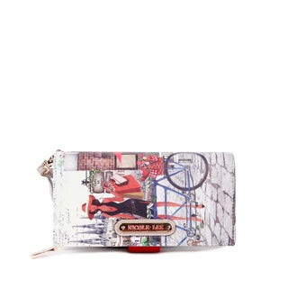 Nicole Lee Kimbriella Faux Leather/Nylon Bicycle Print Wallet