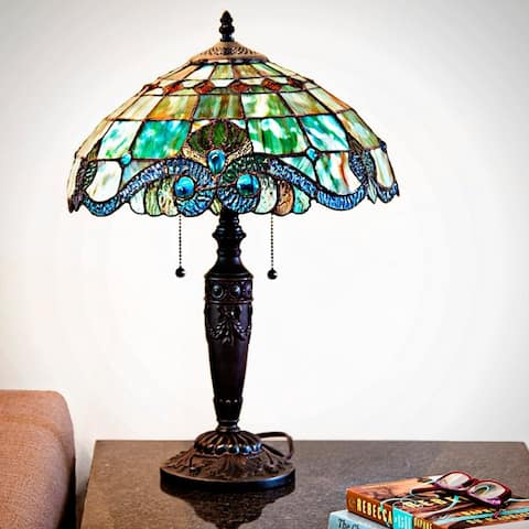 Gracewood Hollow Asdreni 20-inch Stained Glass Tiffany Lamp